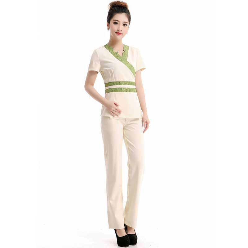 2016 free shipping pattern airline hostess thai spa for Spa uniform tops