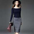 Autumn Winter Women s Knitted Pullover Sweater Suits with Hips Wrapped Skirts Leisure Tops OL Style