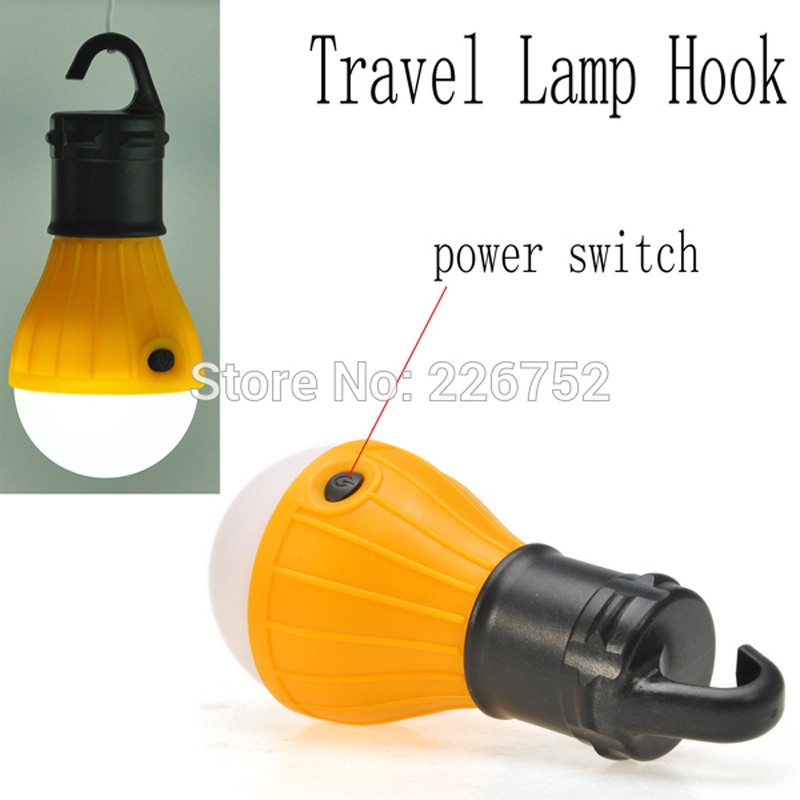 Outdoor Camping Lamp Tent Light Torch Flashlight Hanging Flat LED Light 3 Mode
