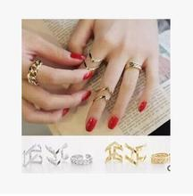 New Korean Women s Jewelry Accessories Spiral Rings Set 3pcs 1set