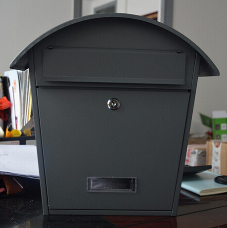 vintage box outdoor waterproof box mailbox grey metal letter box in mailboxes from home garden. Black Bedroom Furniture Sets. Home Design Ideas