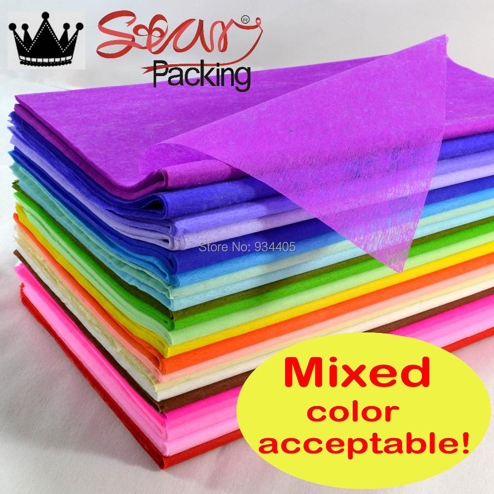 Wholesales Tissue Paper Wrapping Fiber Texture Floral Wraps 48 48cm