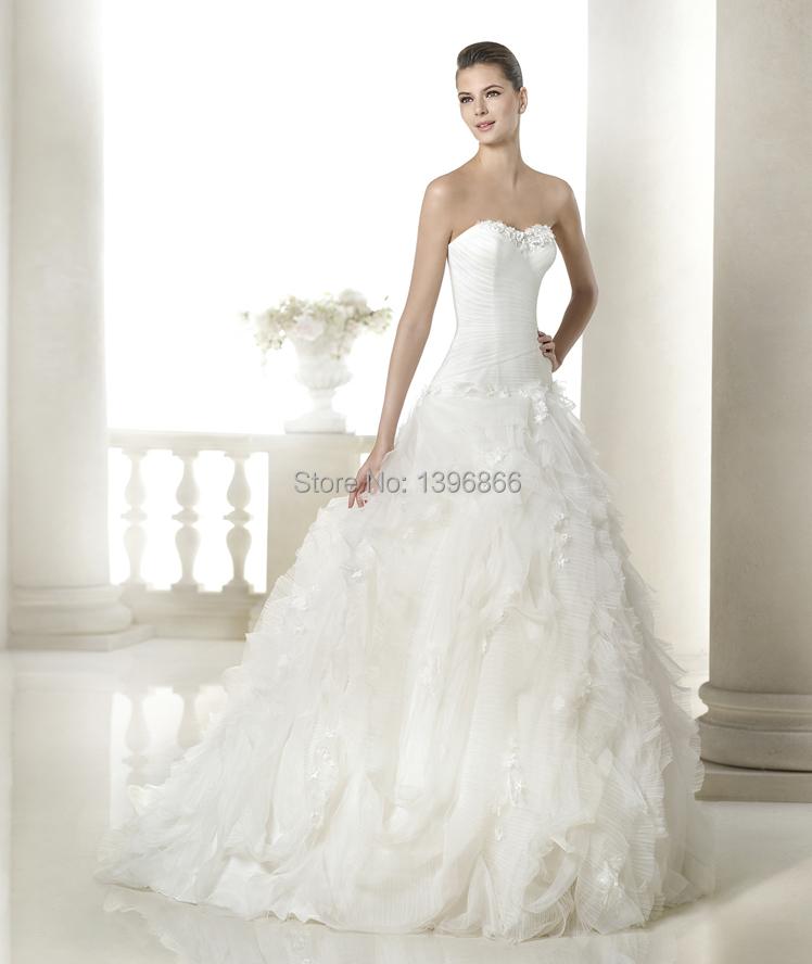 Free Shipping Romantic Most Beautiful Wedding Dress 2015