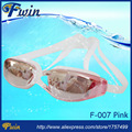 2015 Hot selling anti fog UV400 protected mirrored coating swim goggles adjustable silicon swimming glasses