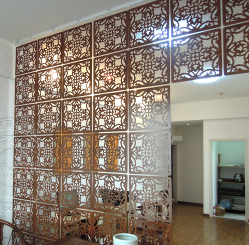 Fashion Hanging Screen Wood Partition Bedroom Wall Post