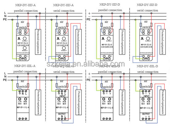 t2 class d 10ka surge protection devices spd for ac power. Black Bedroom Furniture Sets. Home Design Ideas
