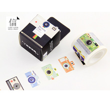 Free Shipping 4cm*10m  Wide Novelty Camera Washi Tape Adhesive Tape DIY Scrapbooking Sticker Label Masking Tape