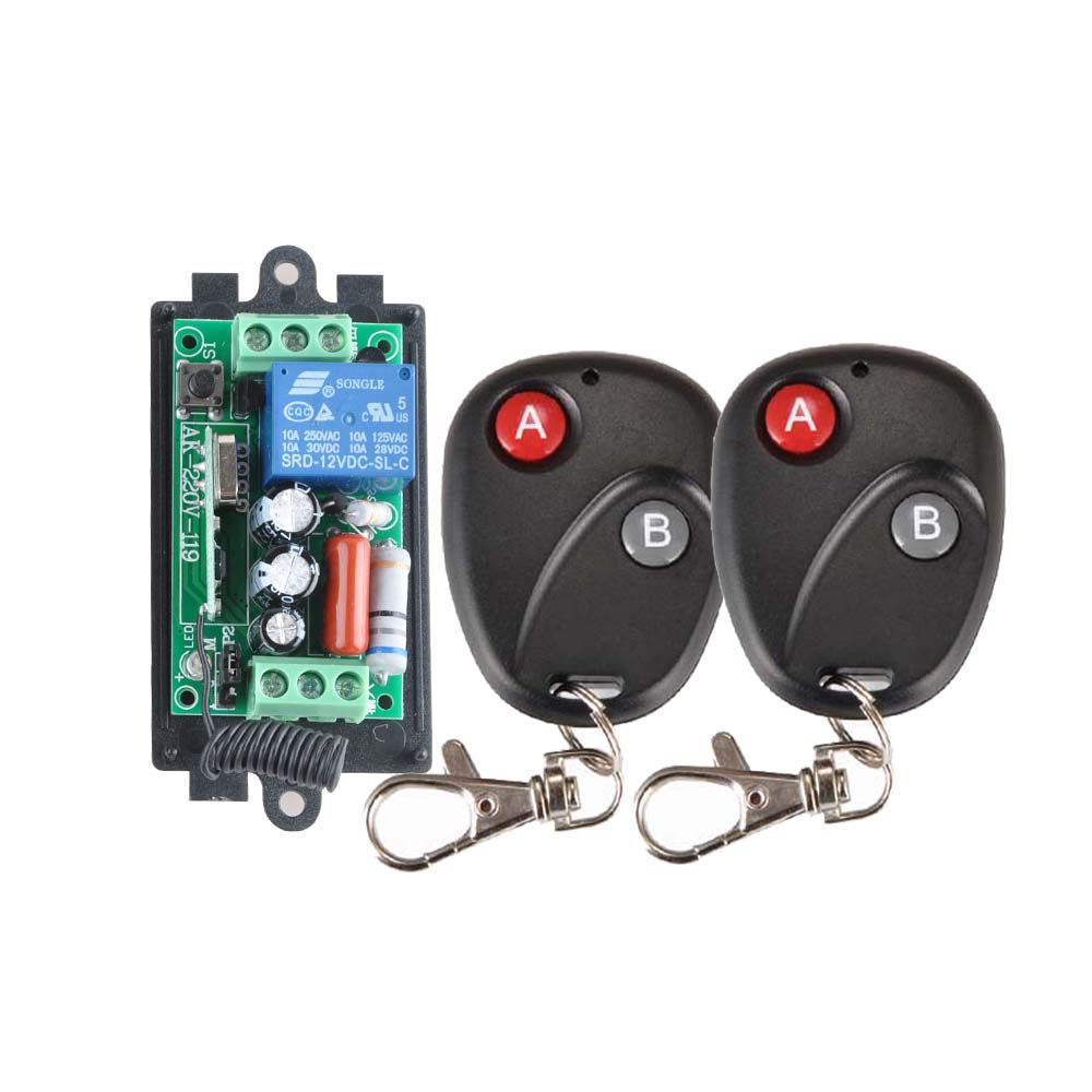 Receiver&2Transmitter 220V 1CH RF Wireless Remote Switch