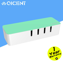 QICENT BA-M1-GR Power strip Cord / Charger Line / USB Network HUB Cable Management Box Cable Organizer Tool Storage Box – Green