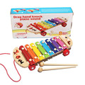 High Quality 1PC Fashion Baby Kid Musical Toys Xylophone Wisdom Development Wooden Instrument Free Shipping