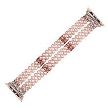 Роскошный женский браслет с жемчугом и бисером для Apple Watch 38 мм 42 мм Браслет для Apple iWatch ремешок 40 мм 44 мм Серия 1 2 3 4 5 эластичная лента(China)