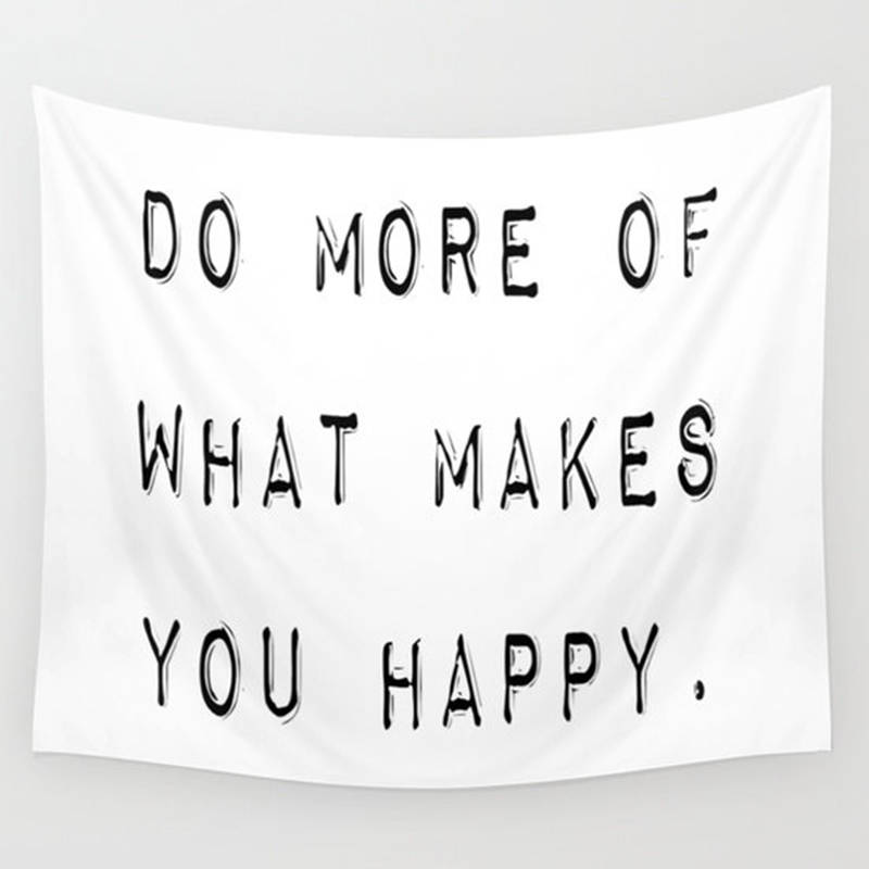 Make You Happy Tapestry Plain Printed Life Wall Tapestry Polyester 140cmx210cm <font><b>Hippie</b></font> Tapestry <font><b>Home</b></font> <font><b>Decoration</b></font>