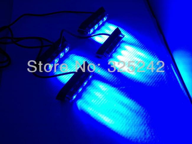 Супер яркий из светодиодов вспышки света 16 светод. аварийного автомобиля проблесковый маячок для передняя решетка / палуба - синий и красный цвет мигает