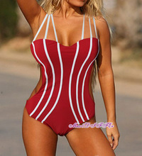 Free shipping Sexy New red unique One Piece MONOKINI SWIMSUIT SWIMWEAR size M L XL shipping within 24hs