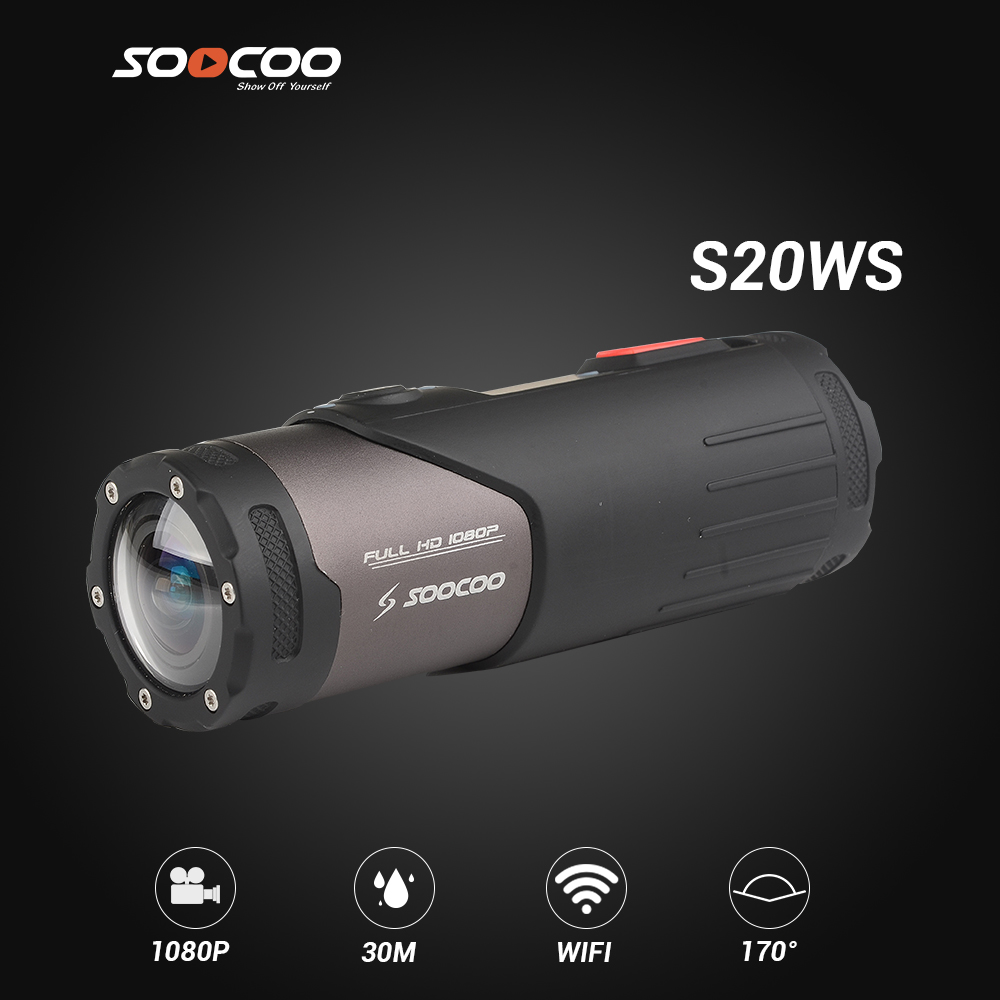 SOOCOO S20 Sport Action Camera Tiny Size Waterproof 10m 170 Wide Angle 1080P 30f/s Action Camcorder Record Loop Video