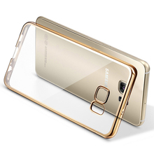 Luxury Ultra Slim Soft Plating Protective Back Cover for Samsung Galaxy S7 / S7 edge Clear Case Silicon Mobile Phone Accessories