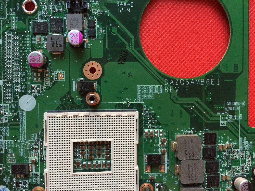 Excellent quality Laptop Motherboard For Acer Aspire E1-431 NBM0Q11001  DAZQSAMB6E1 PGA989 HM77