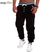 Harem Pants New Style Fashion 2015 Casual Skinny Sweatpants Sport Pants Trousers Drop Crotch Jogging Pants Men Joggers Sarouel