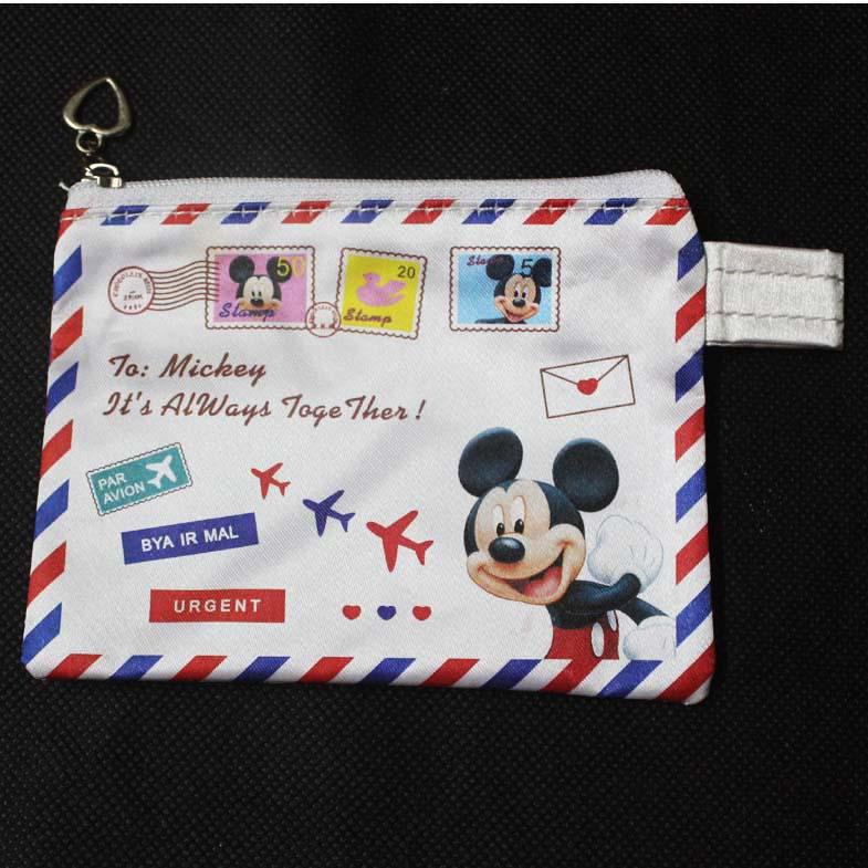Милый водонепроницаемый мультфильм черный непослушный простых мыши charactor мешочек монет кошелек конверт карманный лучший подарок