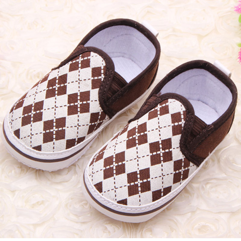 Fashion Plaid Slip On Baby Toddler Shoes Anti Slip Baby Boy Sneaker 0 18 Months