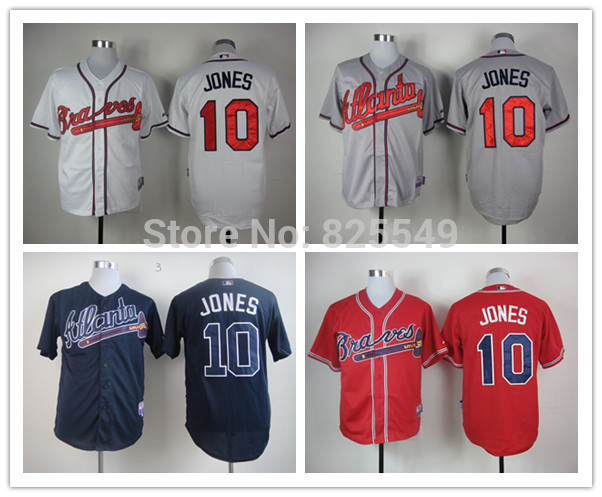 low priced baf28 e08a9 atlanta braves 10 chipper jones 2014 red jersey