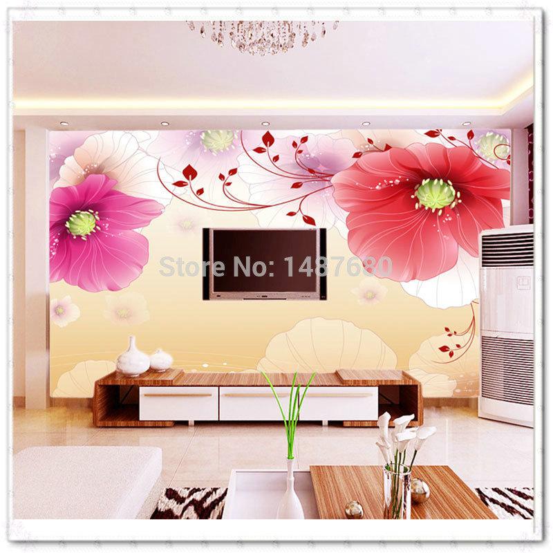toute taille r ve grosse fleur personnalis 3d murale. Black Bedroom Furniture Sets. Home Design Ideas
