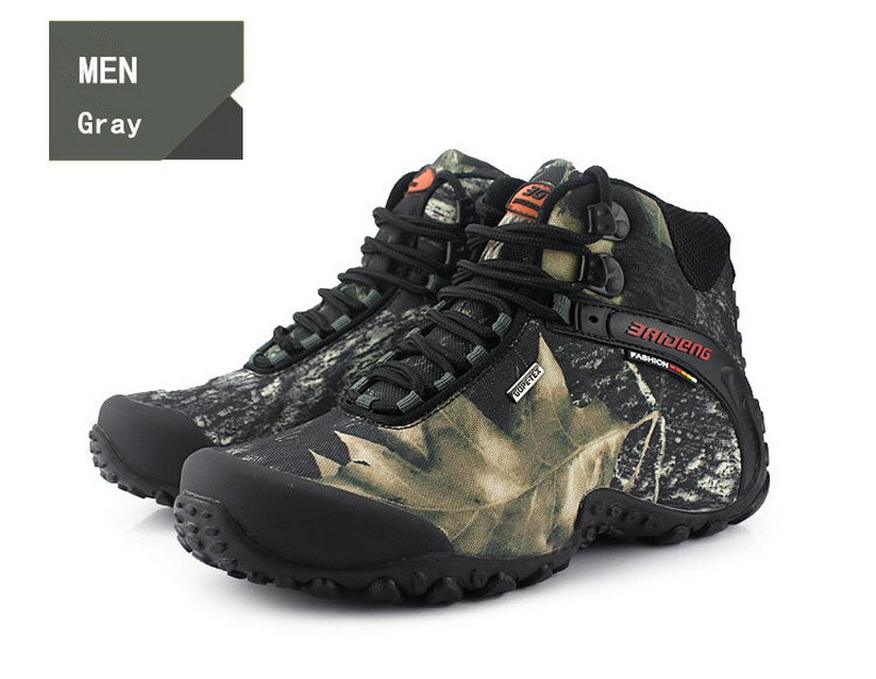 8eb250e6971 BAIDENG Waterproof Men Boots 2017 Fashion Leather Fur Boots Winter Nubuck  Leather Warm Men Shoes Outdoor hiking boots 8069