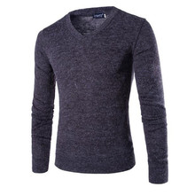 2015 men of new products Autumn slim fit v-neck knit shirt/Male quality joker pure color knitting a sweater