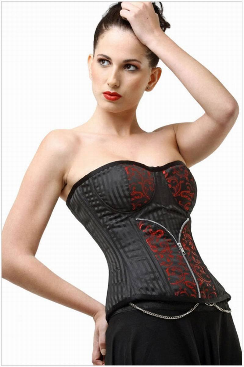 New 2015 Steampunk Style Corset Zip up Patterned Jacquard ...