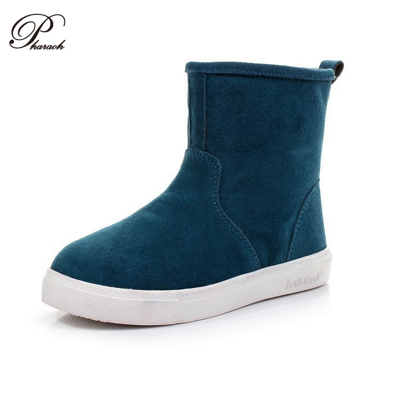 2015 hot sale women boots Genuine Leather ankle suede snow