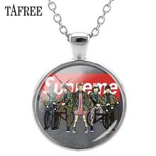 Ожерелья с кулоном TAFREE Stranger Things, круглые кулоны с кулоном из кабошона, модные ювелирные изделия ручной работы с изображением, подарок, QF114(Китай)