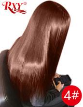 RXY 360 синтетический фронтальный парик, предварительно выщипанные Детские волосы, прямые кружевные фронтальные человеческие волосы, парики ...(Китай)