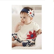 47b2c832352e8 2015 Hot Baby Clothing Rompers Newborn Baby Girl Summer Clothes Sets Sleeve  Romper Hat Pants Baby