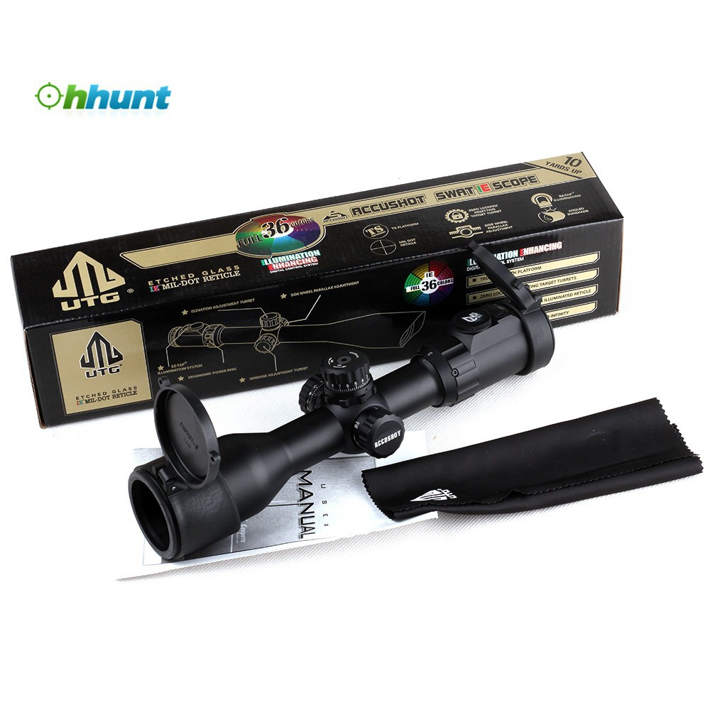 Hunting Riflescope Leapers UTG 3-12X44 AO 30mm Compact Tactical Optical  Sight 36-color Mil dot