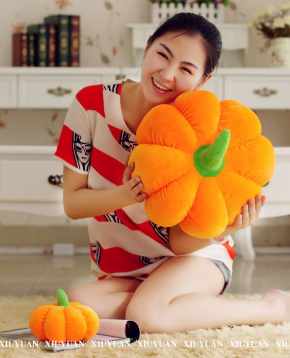 middle lovely vegetable pumpkin plush toy big pillow doll gift about 40cm