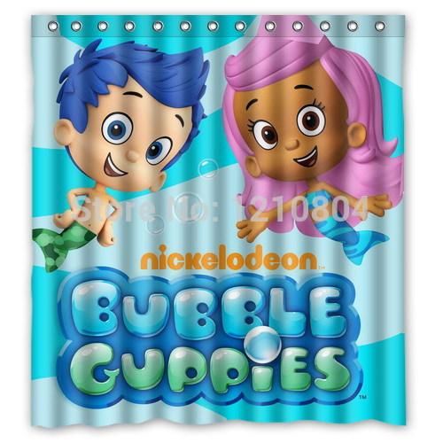 Custom Funny Cartoon Bubble Guppies Shower Curtain Amazing Decorate Bathroom Chinaprices Net