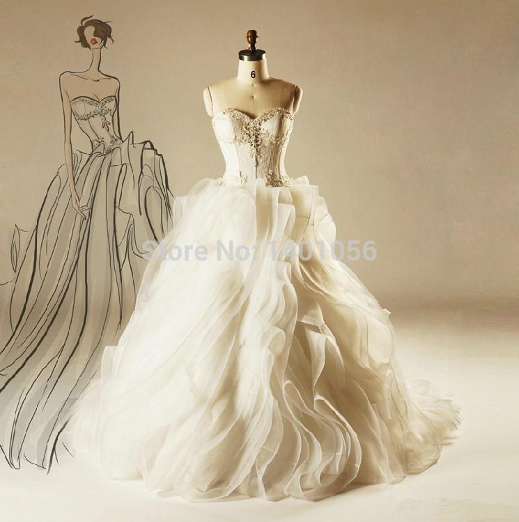 Modest Real Photo Vestidos De Vovia Puffy Ball Gown Beaded ...