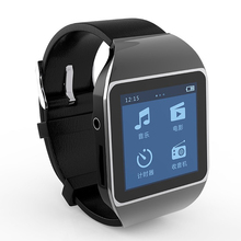 2015 New fashion touch screen smart watch mp3 player 8GB bluetooth running sports type FM radio Free shipping