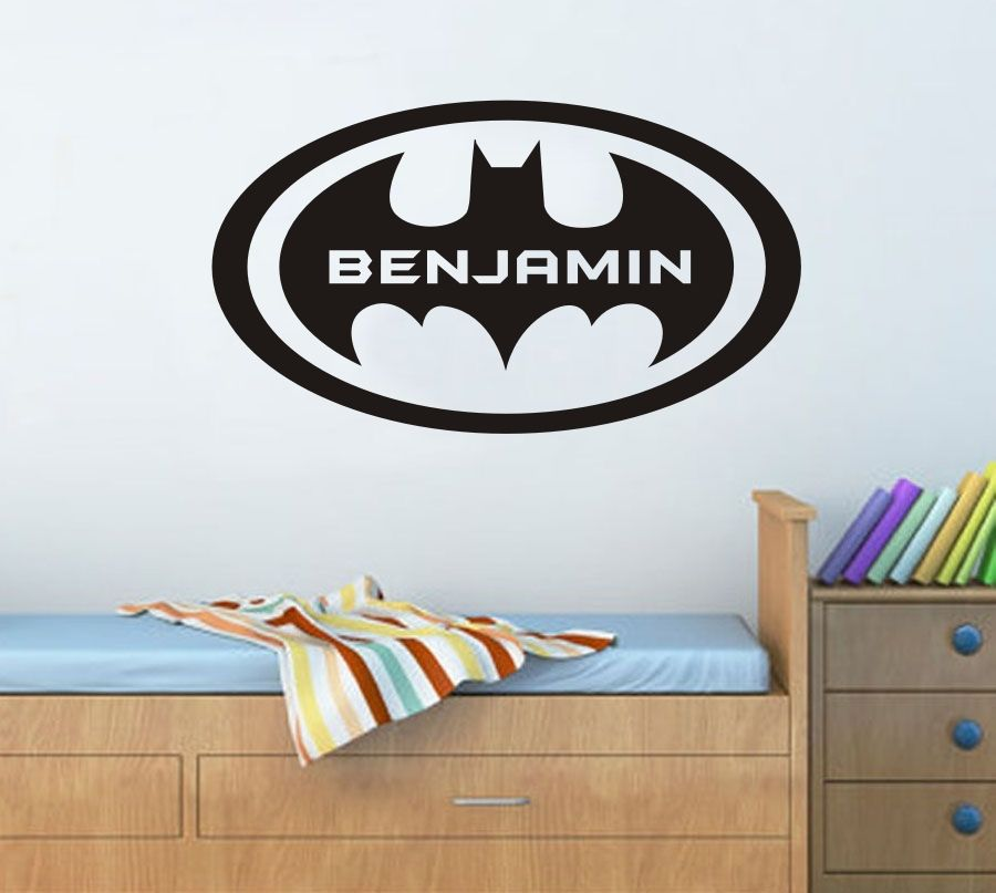 online kaufen gro handel batman wandtattoo aus china batman wandtattoo gro h ndler. Black Bedroom Furniture Sets. Home Design Ideas