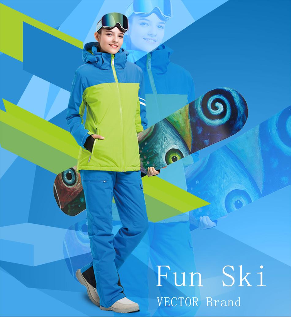 VECTOR Professional Skiing Jackets Waterproof Warm Winter Outdoor Snow  Sportwear Women   Men Snowboarding Ski Jacket Brand. aeProduct. ef273766a
