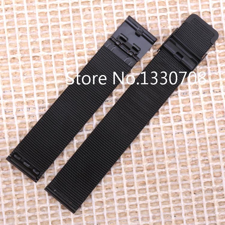 22 мм новый высокое качество часы из нержавеющей стали сетка браслеты ремни замена группа безопасности пряжки бесплатная доставка
