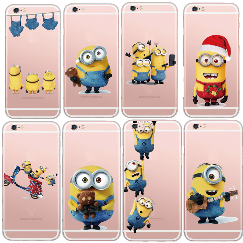 pretty nice c66b6 cfb26 Latest Silicon Cover Despicable Me Yellow Minion Case For Apple iPhone 5  5s/6 6s Soft Clear Phone Cases Shell