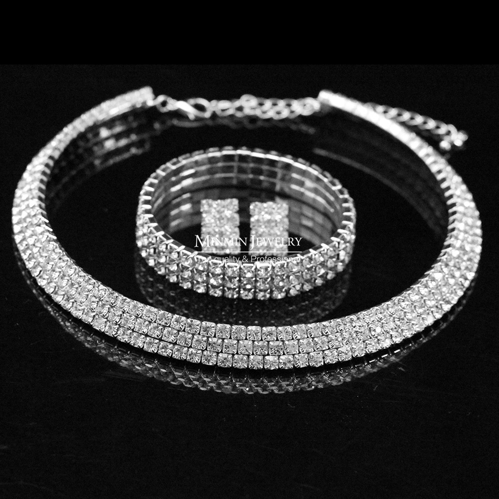 New 2014 Classic Circle Czech Rhinestone Crystal Wedding Jewelry ... 9a711e75f7cf