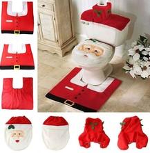 font b Christmas b font Decoration Supplies Santa font b Toilet b font Seat Cover