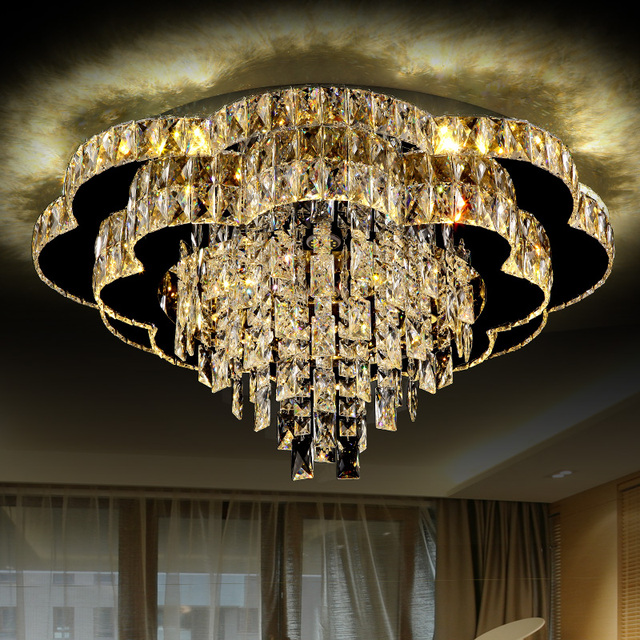 Romantic Bedroom Lighting: Crystal Led Ceiling Light Living Room Lights Luxurious