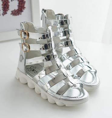 Children s summer sandals 2016 peep-toe infant boots high girls summer elsa  princess shoes chauSsliure enfants fille 717 b57691bb21c2