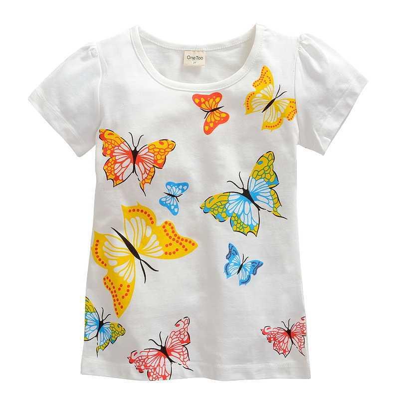 d78004ee 1 10 years Girls T shirt girl brand t shirt Little big girl Cartoon short  sleeve