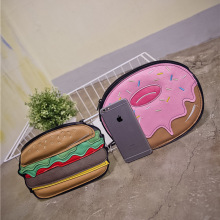 American fashion funny clutch lovely donut shaped creative handbag Women HandBag Women High Quality Cute Clutches