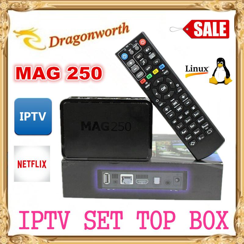 20pcs/lot  Linux System IPTV Set Top Box Mag250 HD Satellite Receiver Support