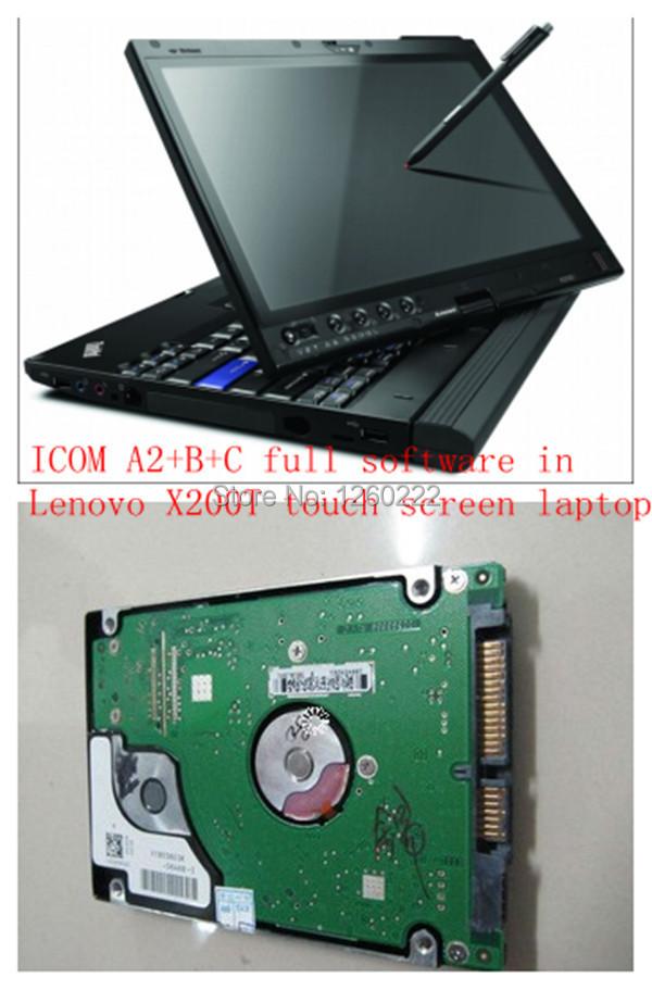 Последние для BMW ICOM A2 до н . э . Fulll программным обеспечением в hdd с x200t сенсорный экран ноутбука 4 ГБ, 9300CPU